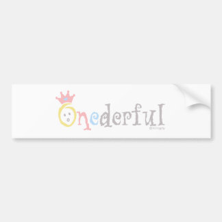 ONEderful pastel 2 Bumper Stickers