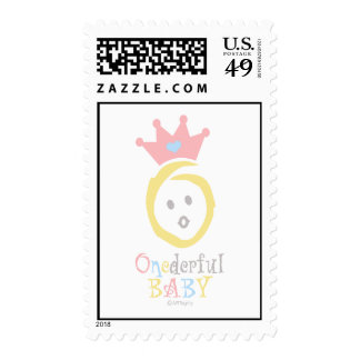 ONEderful (pastel 2) Postage
