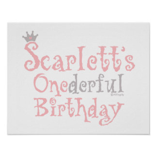 ONEderful Scarlett Poster