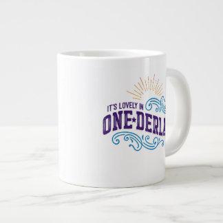 Onederland es taza preciosa del jumbo del color taza grande