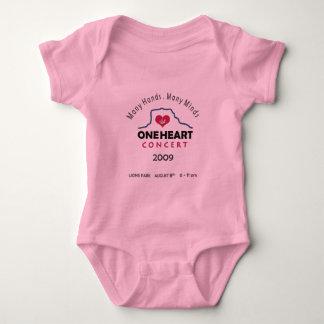 oneheart concert baby bodysuit
