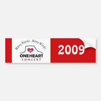 oneheart concert bumper sticker