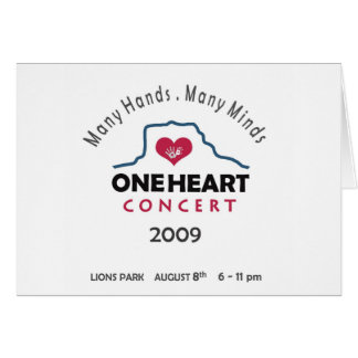 oneheart concert card