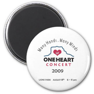 oneheart concert 2 inch round magnet