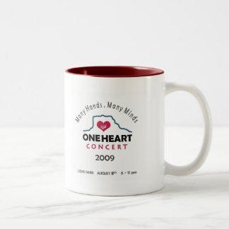 oneheart concert Two-Tone coffee mug