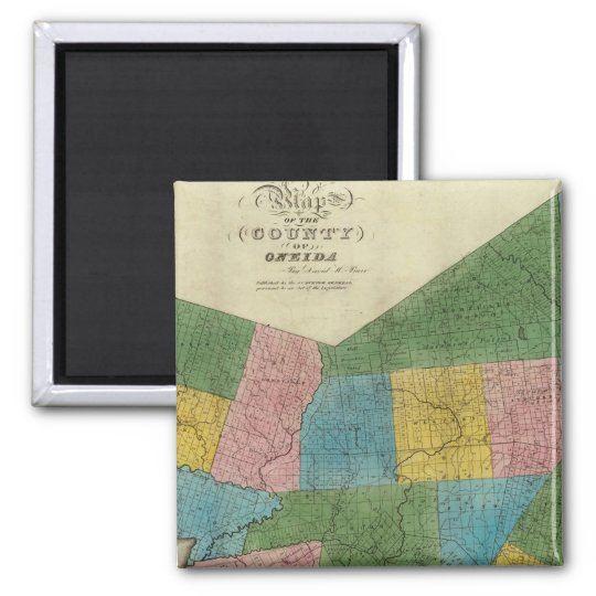 Oneida County 2 Inch Square Magnet