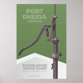 Oneida del puerto, Michigan - bomba de agua de la  Póster