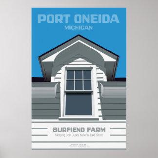 Oneida del puerto, Michigan - granja de Burfiend Posters