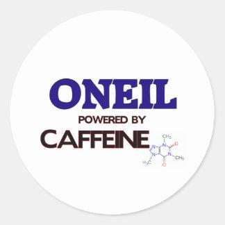 Oneil accionó por el cafeína pegatina redonda