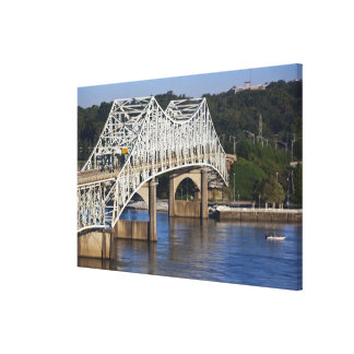 O'Neil Bridge on Tennessee River, Florence, Canvas Print