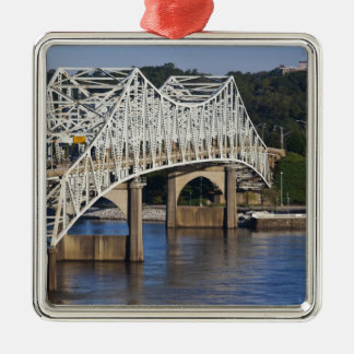 O'Neil Bridge on Tennessee River, Florence, Metal Ornament