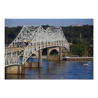 O'Neil Bridge on Tennessee River, Florence, Poster