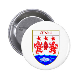 O'Neil Coat of Arms/Family Crest Pinback Button