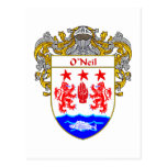 O'Neil Coat of Arms (Mantled) Postcard