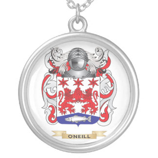 O'Neill Coat of Arms (Family Crest) Silver Plated Necklace