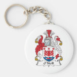 O'Neill Family Crest Basic Round Button Keychain