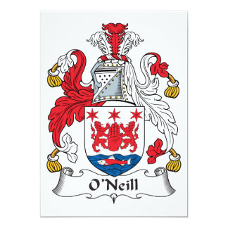 O'Neill Family Crest Personalized Announcement