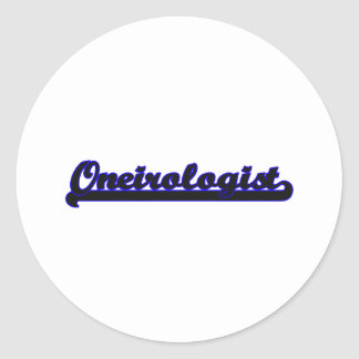 Oneirologist Classic Job Design Classic Round Sticker