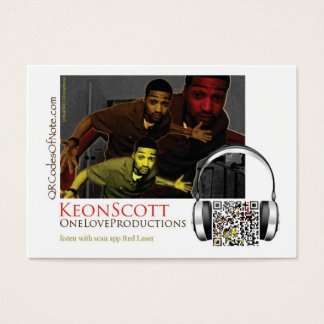 OneLoveProductions, Keon Scott Music Business Card