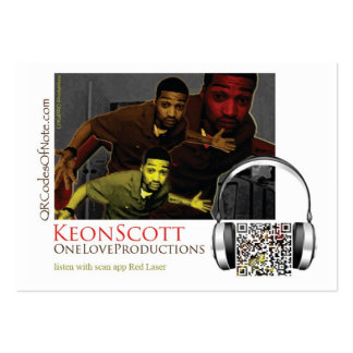 OneLoveProductions, Keon Scott Music Large Business Card