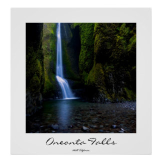 Oneonta Falls in Oregon poster, customizable title Poster