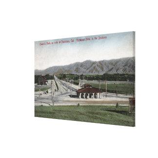 Oneonta Park & Raymond Hotel Canvas Print