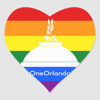 OneOrlando Heart Sticker