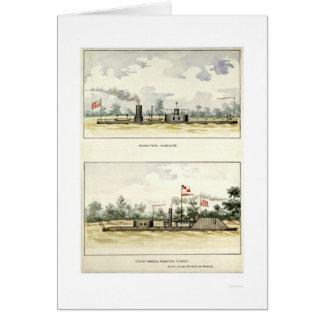 Oneota acorazado de D.M.N. Stouffer 1864 Tarjeta De Felicitación