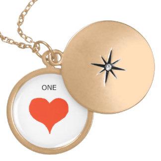 """One's Heart"" Gold Finish Locket! Locket Necklace"
