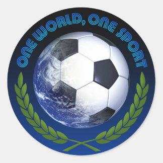 OneWorldButtons Pegatina Redonda