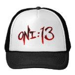 Oni:13 Logo Trucker Hat (black)