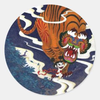 Oni Love Round Sticker