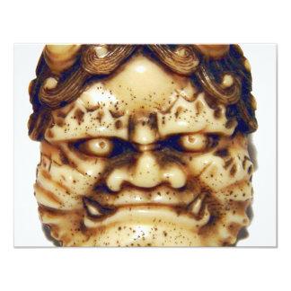 Oni Netsuke 4.25x5.5 Paper Invitation Card