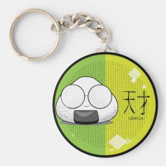 Onichibi - empollón llavero redondo tipo pin