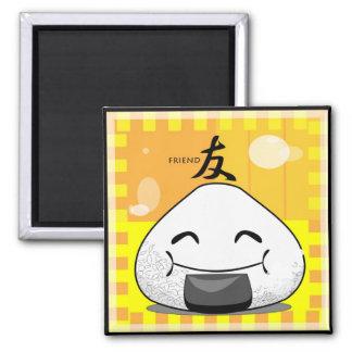 Onichibi - Friend 2 Inch Square Magnet