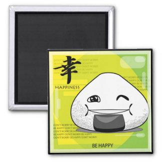 Onichibi - Happy! 2 Inch Square Magnet