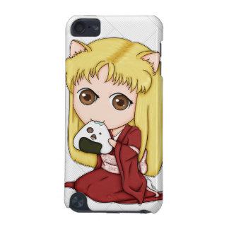 Onigiri Cat Girl In Red Kimono iPod Touch (5th Generation) Cover