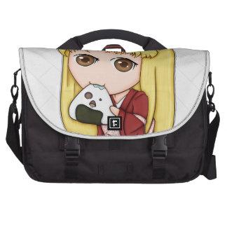 Onigiri Cat Girl In Red Kimono Bag For Laptop