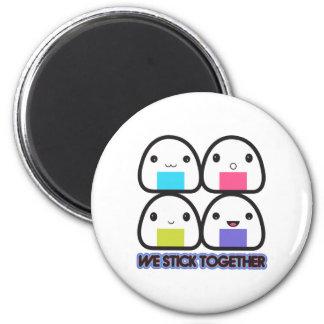 Onigiri Family 2 Inch Round Magnet
