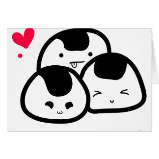 onigiri friends greeting card