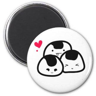 onigiri friends magnet