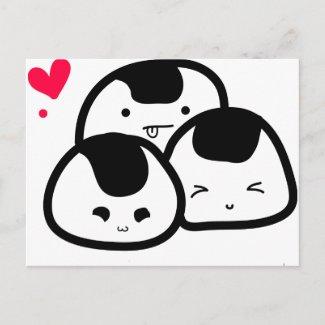 onigiri friends postcard