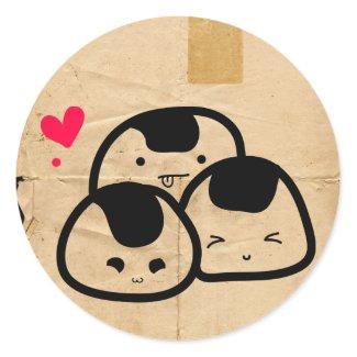 onigiri friends sticker