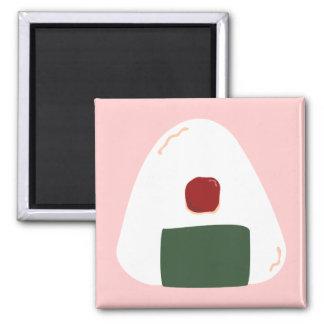 """Onigiri ♥"" ~Pink ver.~ Square Magnet"