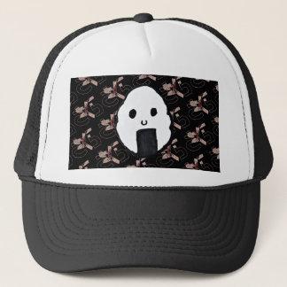 Onigiri-Sakura Night Print Trucker Hat