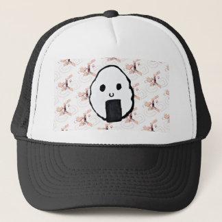 Onigiri-Sakura Print Trucker Hat