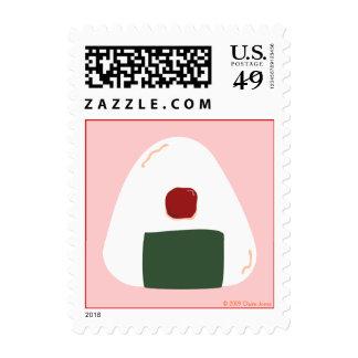 """Onigiri ♥"" ~Umeboshi ver.~ Postage Stamp"