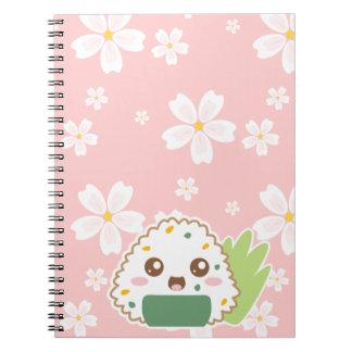 Onigiri with White Sakura Notebook