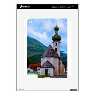 Onion Domed Church - Austrian Mountain Village iPad 3 Skins