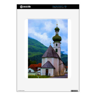 Onion Domed Church - Austrian Mountain Village iPad Skin